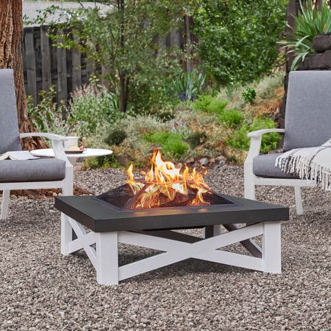Austin Fire Table by Real Flame - 33.625L x 33.625W x 11.25H