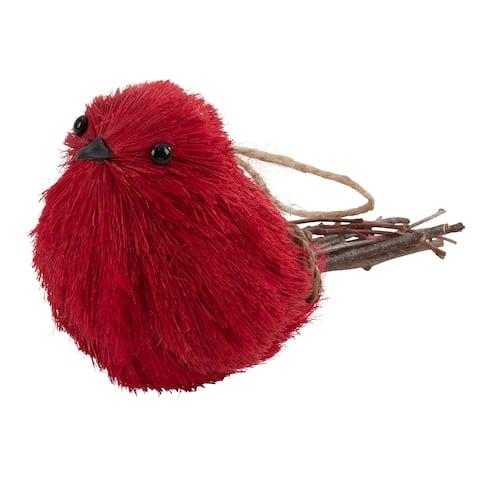 Cardinal Bird Ornaments (Set of 4)