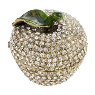 Jeweled Apple Decorative Box