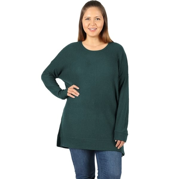 Womens Daily Lace Long Sleeve Pullover Longline Tops Blouse Plus Size T Shirts