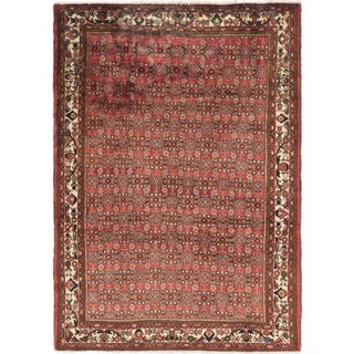Hand Knotted Hamedan Semi Antique Wool Area Rug - 6' 9 x 9' 5