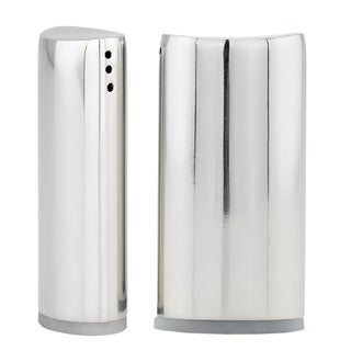 Stainless Steel Oval Salt & Pepper Shaker Set
