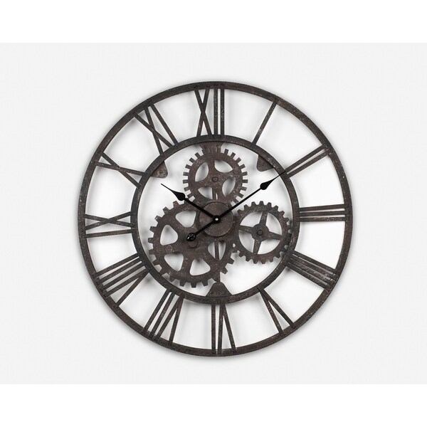 Shop Wrought Iron Antique Wall Clock Free Shipping Today