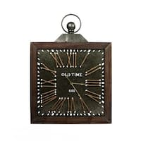 Epoch Brown Wood/Metal Antique-style Wall Clock