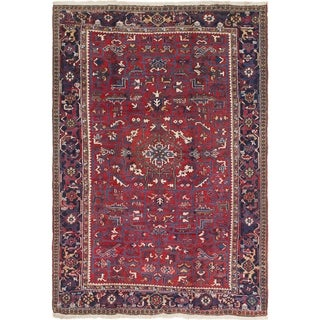 Hand Knotted Heriz Semi Antique Wool Area Rug - 8' x 11' 2