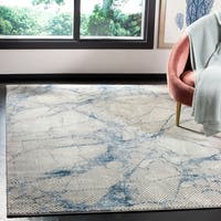 Safavieh Meadow Modern & Contemporary Abstract - Navy / Ivory Rug - 9' x 12'