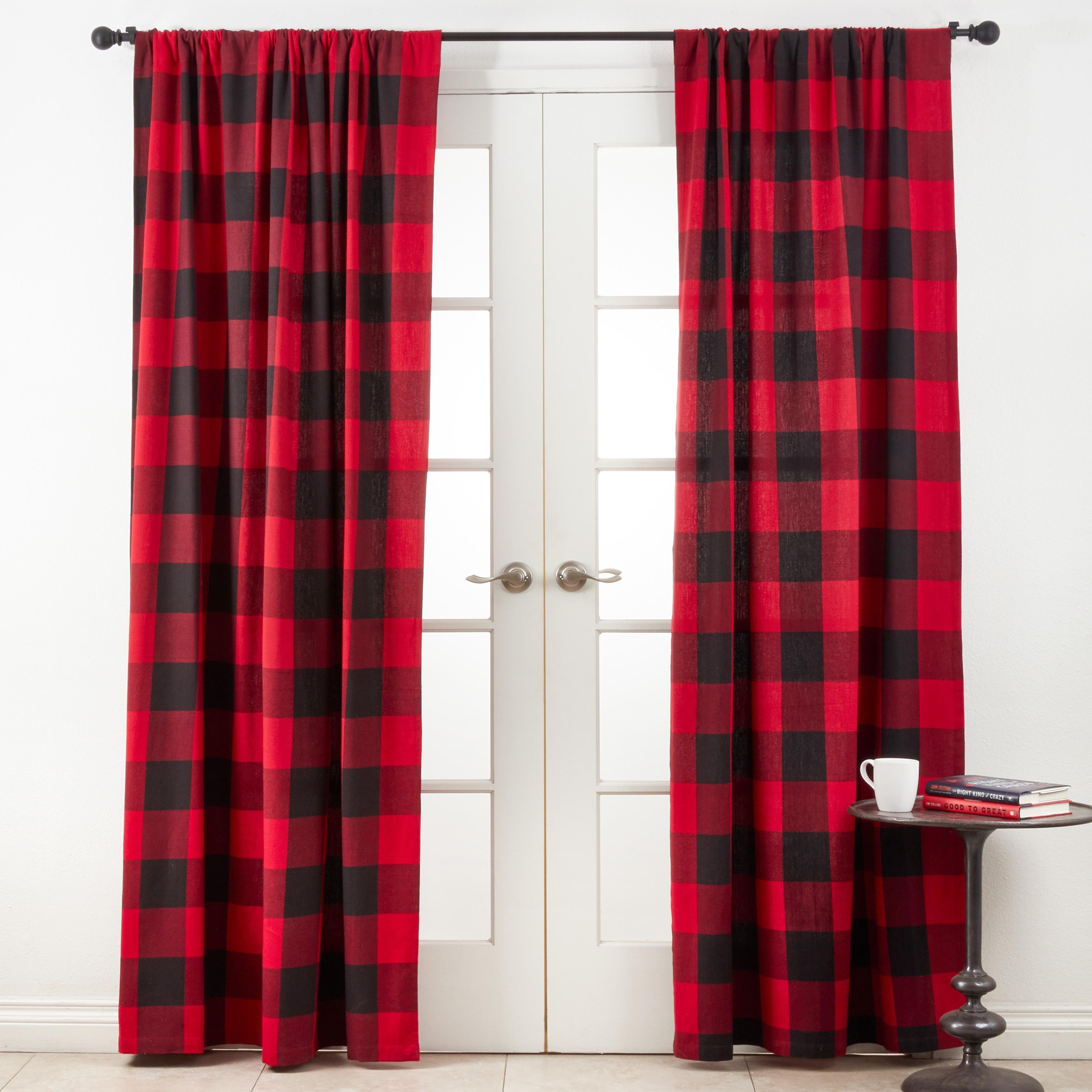Cotton Buffalo Plaid Curtain Panel On Sale Overstock 23482235