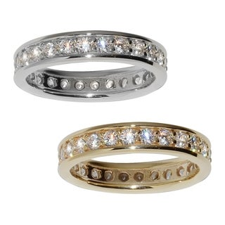 14k Yellow or White Gold Cubic Zirconia Eternity Band