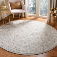 "Safavieh Reflection Modern & Contemporary Oriental - Beige / Cream Polyester Rug - 6'7"" x 6'7"" round"