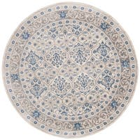 "Safavieh Brentwood Traditional Oriental - Light Grey / Blue Rug - 6'7"" x 6'7"" round"