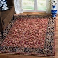 Safavieh Couture Handmade Old World Traditional Oriental - Red / Navy Wool Rug - 8' x 10'