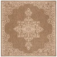 """Safavieh Linden Transitional Geometric - Cream / Beige Rug - 6'7"""" x 6'7"""" square"""