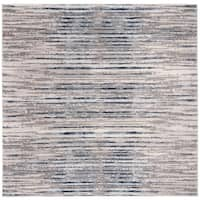 """Safavieh Meadow Modern & Contemporary Abstract - Grey / Light Grey Rug - 6'7"""" x 6'7"""" square"""