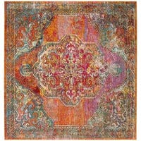 Safavieh Crystal Vintage Oriental - Orange / Light Blue Rug - 5' x 5' square