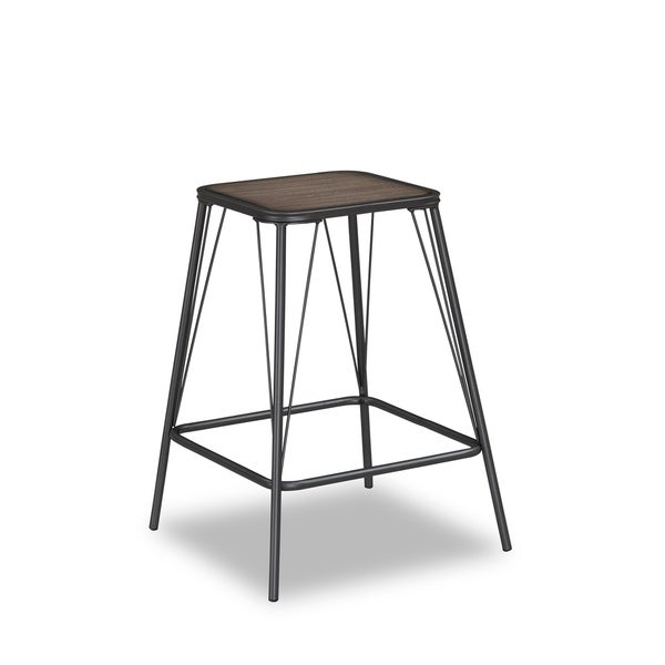 Terry Metal and Driftwood Gray Wood Counter Height Stool by Greyson Living