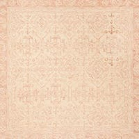 Safavieh Handmade Aspen Bohemian & Eclectic Southwestern - Ivory / Blush Wool Tassel Area Rug - 7' x 7' Square