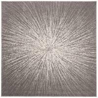 "Safavieh Evoke Vintage Geometric - Dark Grey / Ivory Rug - 6'7"" x 6'7"" square"