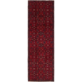 Hand Knotted Hossainabad Wool Runner Rug - 3' x 10'