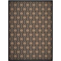 Safavieh Courtyard Transitional Geometric - Brown / Black Rug - 9' x 12'