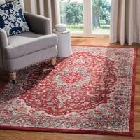 Safavieh Merlot Bohemian & Eclectic Oriental - Red / Aqua Rug - 8' x 10'