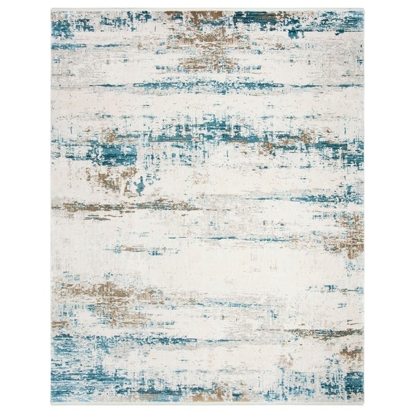 Safavieh Eclipse Athena Vintage Boho Abstract Viscose Rug with Fringe