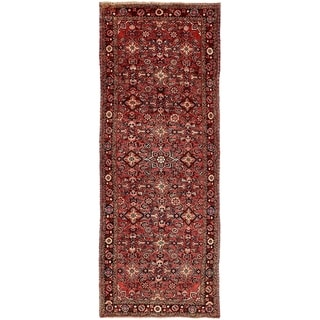 Hand Knotted Hossainabad Wool Runner Rug - 3' 7 x 9' 11