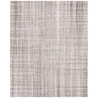Safavieh Handmade Abstract Modern & Contemporary Abstract - Grey / Black Viscose Rug - 8' x 10'