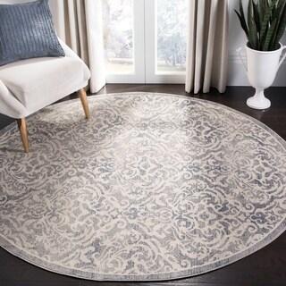 "Safavieh Brentwood Traditional Oriental - Light Grey / Blue Rug - 6'7"" x 6'7"" round"