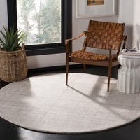 Safavieh Handmade Abstract Modern & Contemporary Abstract - Ivory / Beige Wool Rug - 6' x 6' Round