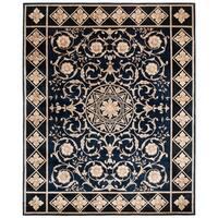 Safavieh Couture Handmade Florence Traditional Oriental - Navy / Black Wool Rug - 8' x 10'