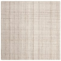 Safavieh Handmade Abstract Modern & Contemporary Abstract - Ivory / Beige Wool Rug - 6' x 6' Square
