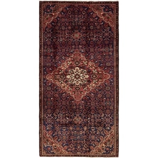 Hand Knotted Hossainabad Semi Antique Wool Runner Rug - 4' 5 x 9'