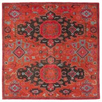 Safavieh Handmade Heritage Traditional Oriental - Rust / Multi Wool Rug - 6' x 6' Square