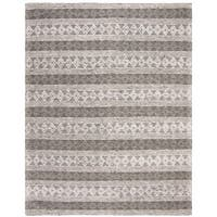 Safavieh Handmade Natura Transitional Geometric - Silver Wool Rug - 8' X 10'