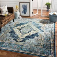 Safavieh Crystal Vintage Oriental - Blue / Yellow Rug - 10' x 14'
