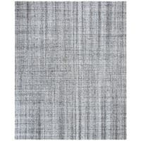 Safavieh Handmade Abstract Modern & Contemporary Abstract - Blue / Black Viscose Rug - 8' x 10'