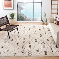 Safavieh Couture Handmade Moroccan Modern & Contemporary Geometric - Beige / Brown Viscose Rug - 8' x 10'