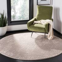 "Safavieh Meadow Modern & Contemporary Abstract - Ivory / Grey Rug - 6'-7"" X 6'-7"" Round"