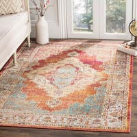 Safavieh Crystal Vintage Oriental - Orange / Light Blue Rug - 10' x 14'
