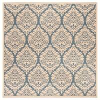 "Safavieh Linden Transitional Geometric - Blue / Creme Rug - 6'7"" x 6'7"" square"