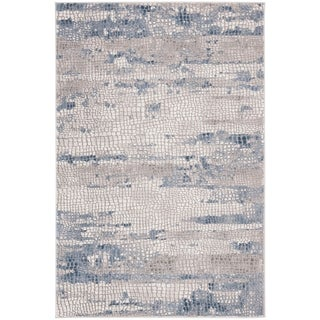 "Safavieh Meadow Modern & Contemporary Abstract - Grey / Navy Rug - 5'3"" x 7'6"""