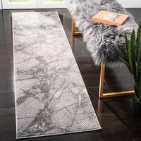 Safavieh Lurex Modern & Contemporary Abstract - Grey Polyester Rug - 2' x 8'