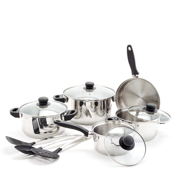 12-piece Stainless Steel Cookware Set. Opens flyout.