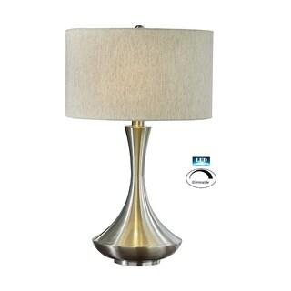 "Artiva Aladdin 2-Light LED Table Lamp with Dimmer Premium Tan Shade - 9'10"" x 12'7"""