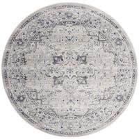 """Safavieh Charleston Vintage Oriental - Grey / Dark Grey Rug - 6'7"""" x 6'7"""" round"""