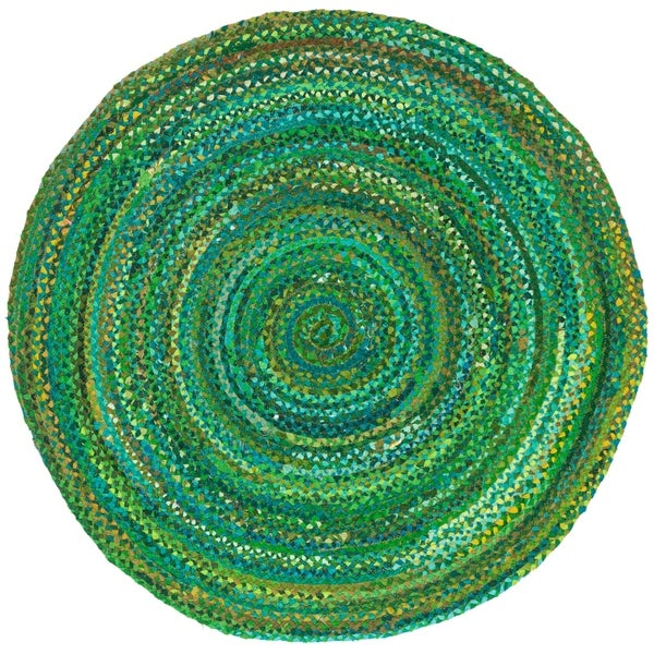 Shop Safavieh Handmade Braided Country Green Cotton Rug