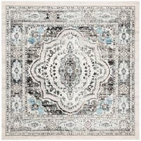 "Safavieh Madison Vintage Oriental - Light Grey / Blue Rug - 6'7"" x 6'7"" square"