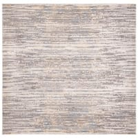 "Safavieh Meadow Modern & Contemporary Abstract - Grey / Gold Rug - 6'-7"" X 6'-7"" Square"
