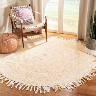 Safavieh Handmade Braided Libby Country Cotton Rug with Fringe
