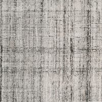 Safavieh Handmade Abstract Modern & Contemporary Abstract - Grey / Black Wool Rug - 6' x 6' Square